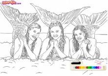Pokoloruj Trzy syreny