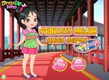 Księżniczka Mulan - piękne buty