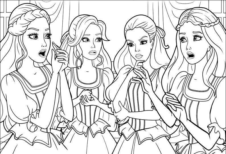 Barbie I Trzy Muszkieterki 10 Kolorowanki Wwwubierankieu