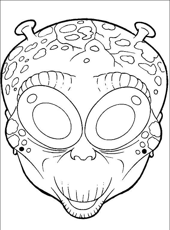 Maski Na Halloween 8 Kolorowanki Www Ubieranki Eu