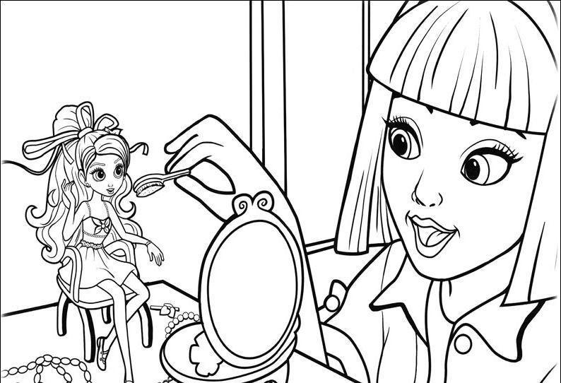 Barbie Przedstawia Calineczkę 7 Kolorowanki Wwwubierankieu