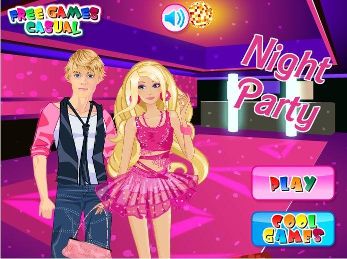 32227031c01eba Barbie i Ken na imprezie - Ubieranki - www.Ubieranki.eu