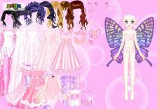 Dress up pink girls