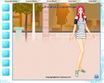Różowowłosa modelka